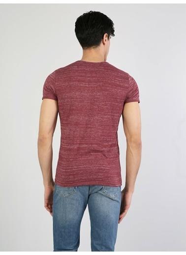 Colin's Desenli T-Shirt Bordo